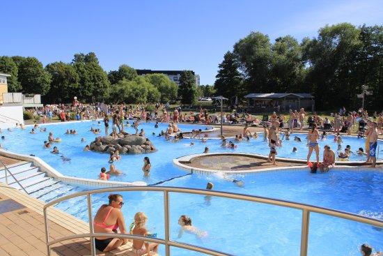 Uppsala, Sverige: Utomhusbad