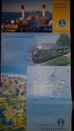 Chiemsee Schifffahrt: English language brochure