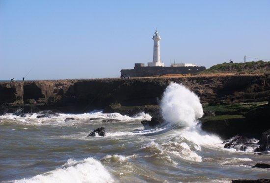 Royal Palace of Rabat: Океанский прибой, и маяк Рабата