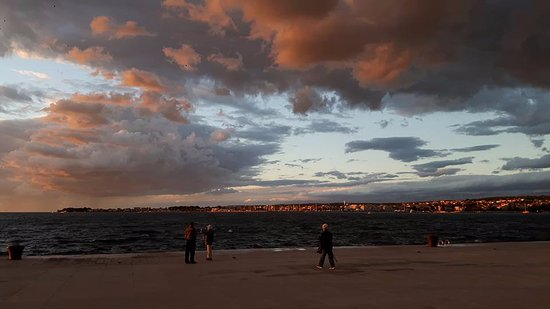 Zadar County, Kroatia: Amazing sunset in Zadar