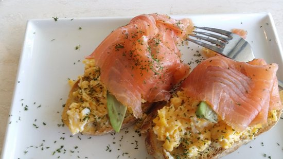Scrambled Eggs Avocado And Smoked Salmon On Toast Picture