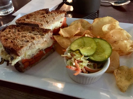"The Grange: Reuben sandwich with ""carrot pastrami."""