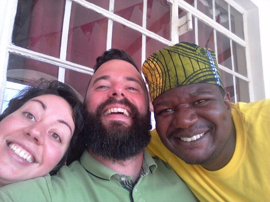Iringa, Tanzania: with my sister and my wonderful friend that works at the restaurant