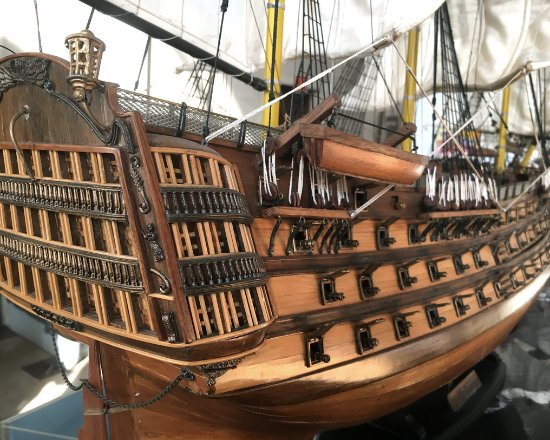 Newburgh, NY: One of the model ships in Karpeles Museum