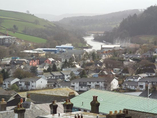 Totnes, UK: View from the keep well worth the climb