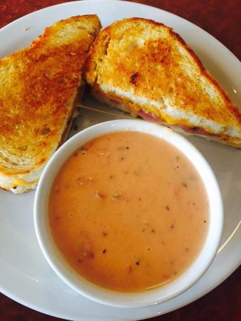 Stanton, MI: CLI grilled cheese and tomato basil soup