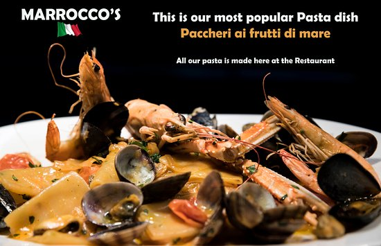 Marrocco's Italian: Seafood & home made Pasta make a great combination .