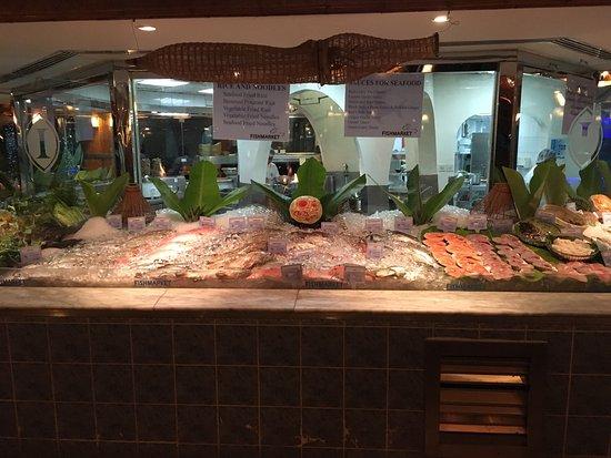 Fishmarket: Fresh fish on the plate