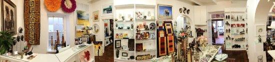 Hermanus, جنوب أفريقيا: A panoramic interior view of the shop