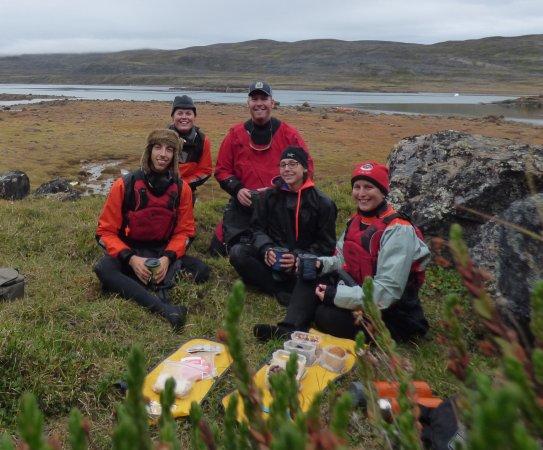 Iqaluit, Canada: Notre petit groupe en sortie Kayak