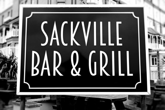 Bexhill-on-Sea, UK:  The Sackville Bar and Grill