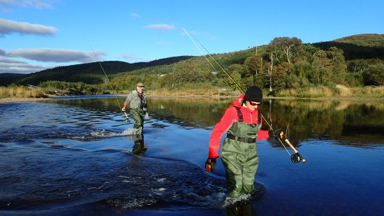 Margaree Forks, Canada: River crossing. Margaree river