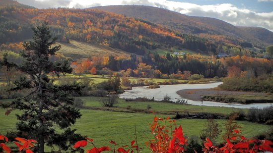 Margaree Forks, Kanada: Fall colours, Margaree River