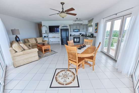 West End Village, Anguila: Living Area of a Oceanfront 1 bedroom Condo