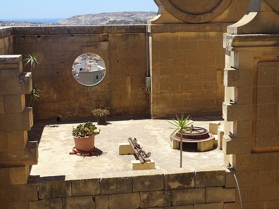 Xewkija, Malta: On the roof.