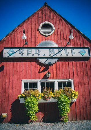 Vergennes, VT: Facade of the Red Mill