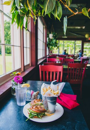 Vergennes, VT: The deck at the Red Mill