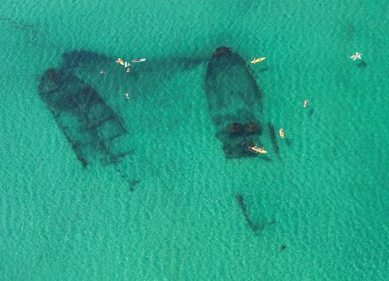 Manteo, NC: The best way to see the shipwrecks which line the coast of the Outer Banks is from 1,500ft above