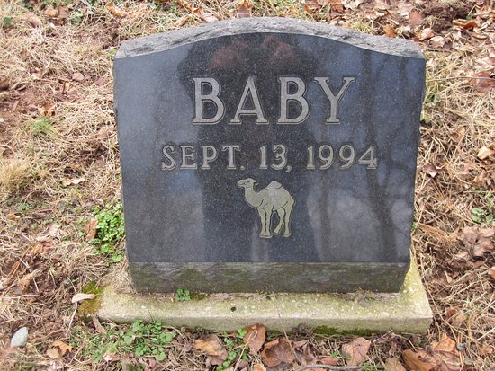 "Hillsborough, Nueva Jersey: Grave Site of ""Baby"" the Camel"