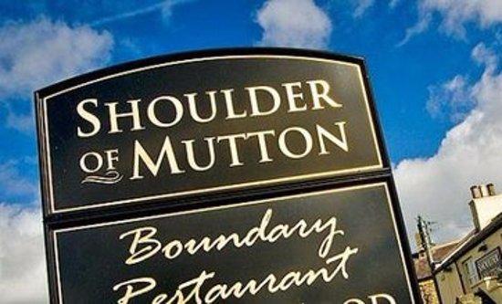 Longhorsley, UK: SHOULDER OF MUTTON SIGN