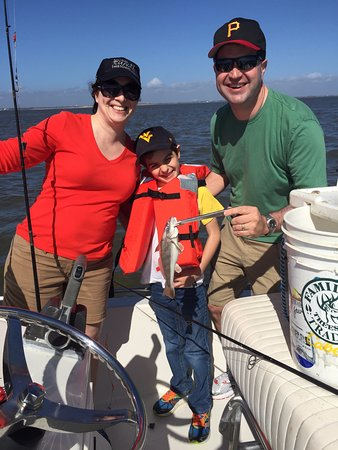Kids Fishing Billy Bee Charters: His first fish