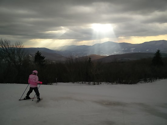 Peru, VT: The Sun found it's way on the top of Bromley Mountain, VT