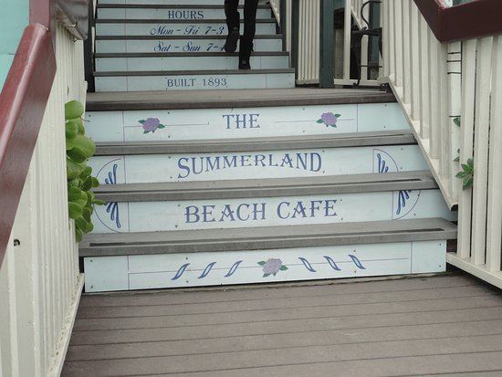 The Entry way for Summerland Beach Cafe