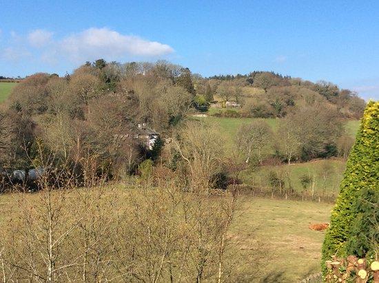 Moretonhampstead, UK: View from Kingsize bedroom