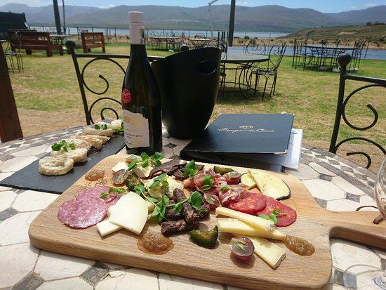 Hermanus, South Africa: A seriously good cheese and charcuterie platter...