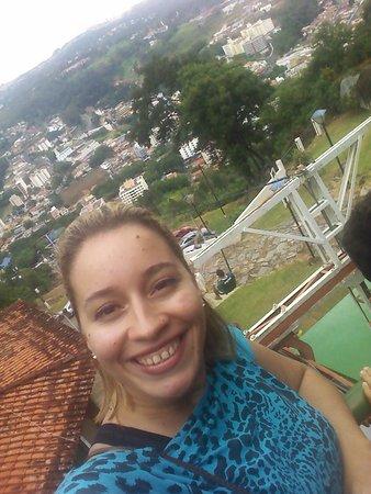Serra Negra, SP: No alto do teleférico
