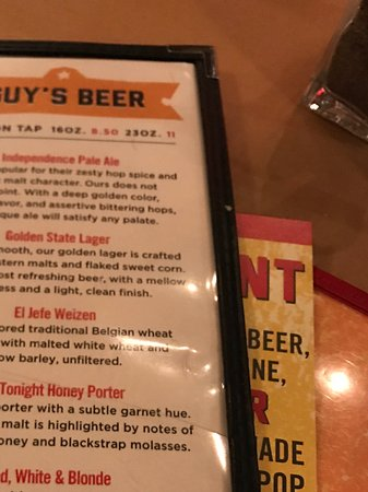 Beer Menu  Picture Of GuyS American Kitchen Bar New York City
