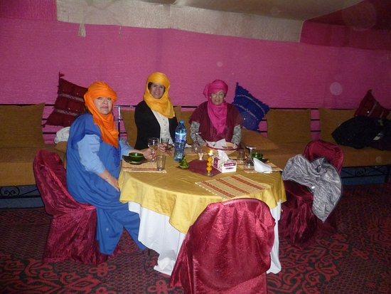 Aspects Of Morocco Day Tours : dinning area at the camp