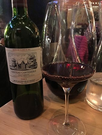 Chez Boulay-bistro boréal: A 2003 Chateau Cantemerle....Fabulous wine...great cellar here as well.