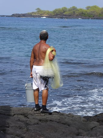 Honaunau, Hawái: Local fisherman.