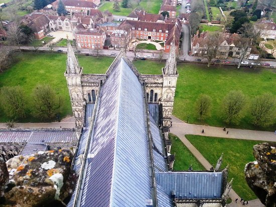 Salisbury Cathedral: View from the tower.