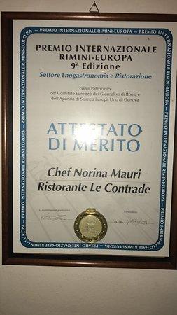 Piandimeleto, Italia: Onoreficenza: