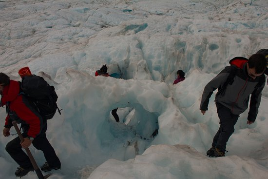 Fox Glacier Guiding: Walking in the ice.