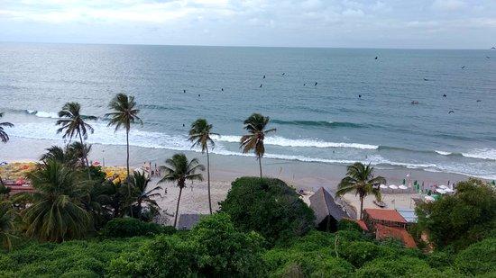 Praia da Lagoinha : A vista do mirante nos presenteia com um mar azul e lindos coqueiros.