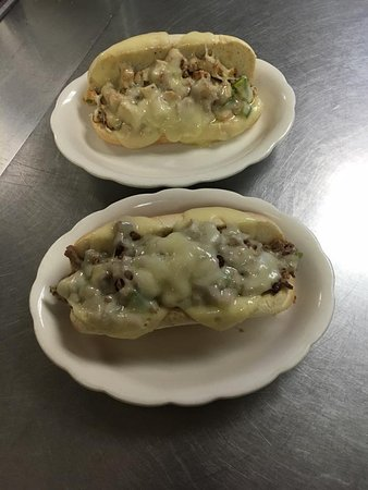 Waterloo, IL: One of our Philly Cheese Steaks and one of our Chicken Philly's.