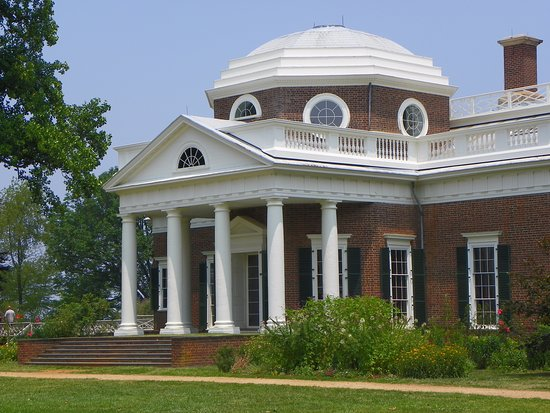 Thomas Jefferson's Monticello: Front.