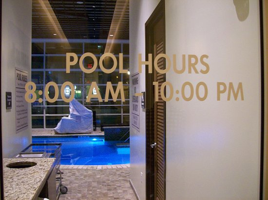The entrance to the indoor and outdoor pools.