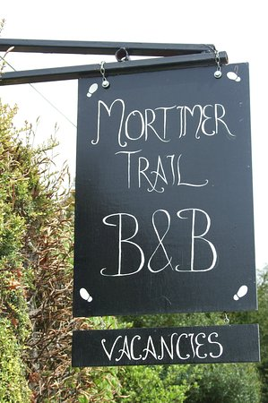 Mortimers Cross, UK: B&B Sign - On The Main Road