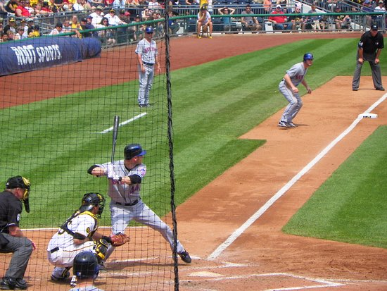 PNC Park: Taking a lead off 3rd.