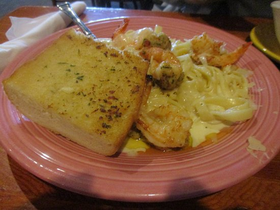 Sturgis, MI: crab-stuffed shrimp fettuccin