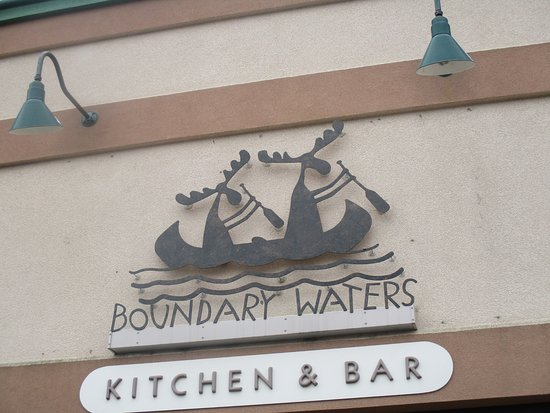 Boundary Waters: sign for restaurant