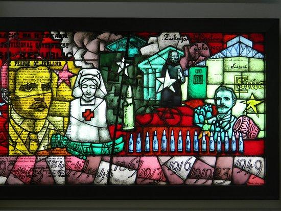 Carlow County Museum: Peadar Lamb's 1916 Stain Glass Panel