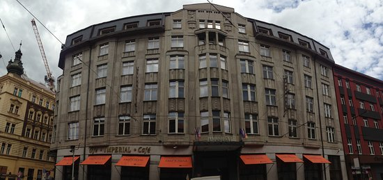 Street view of hotel art deco prague picture of art deco for Art hotel prague