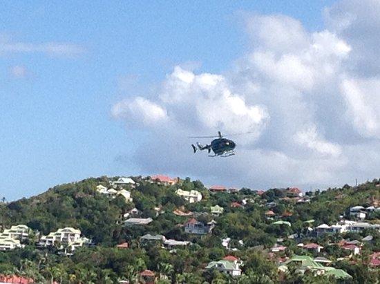 Les Ilets de la Plage: Helicopter landing