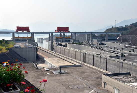 Yichang, China: The locks at the Three gorges Dam