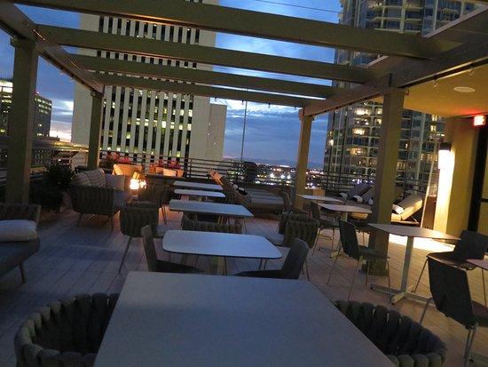 hilton garden inn phoenix downtown rooftop with fountain and fire pit - Hilton Garden Inn Phoenix Downtown